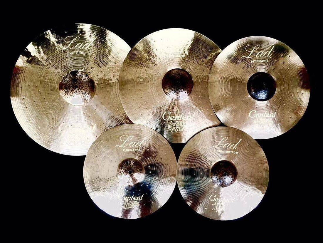 Cymbals LAD hand made from B20 alloy.Centent bells splashes crashes rides