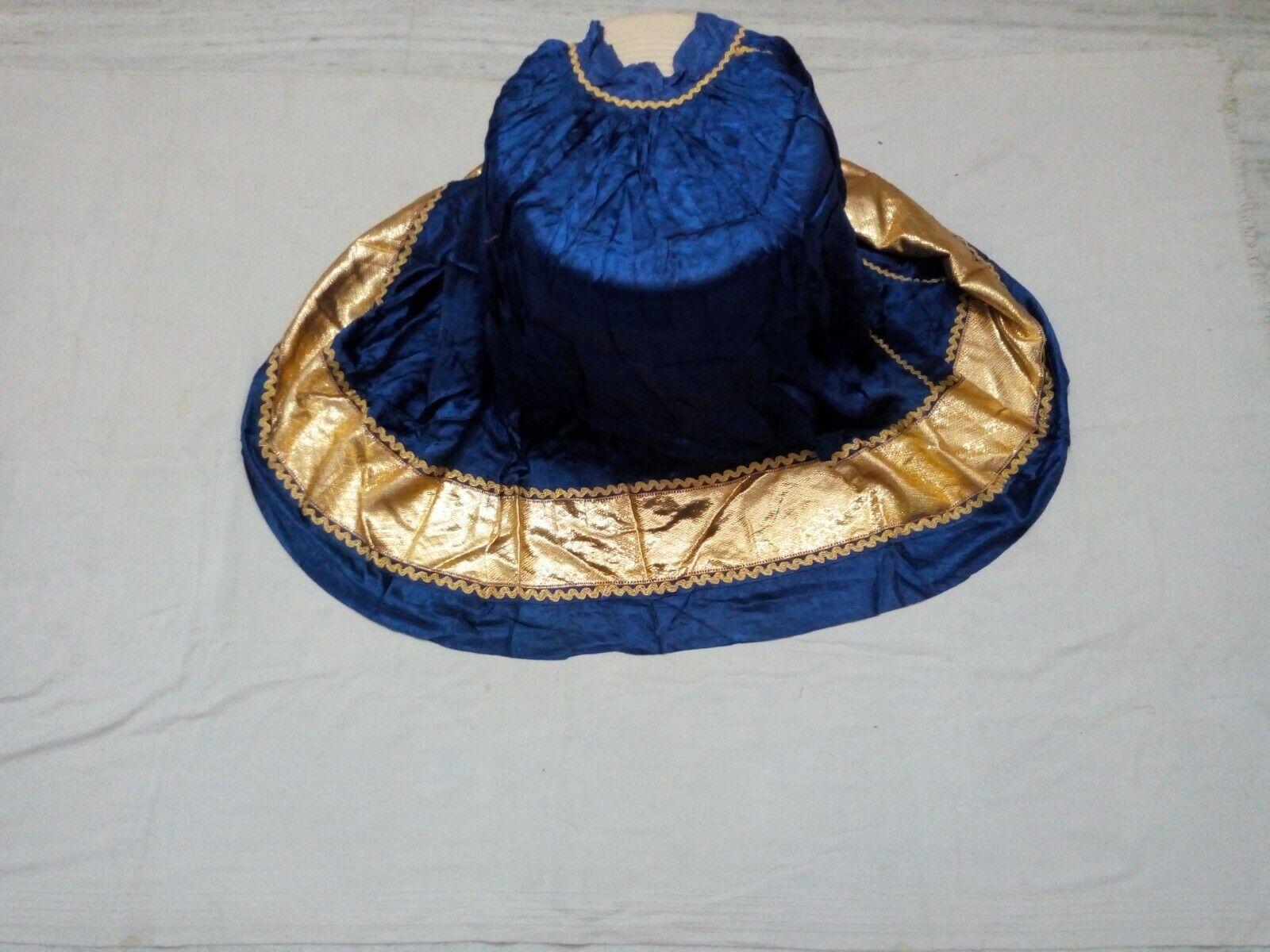 Indian Vintage Satin Silk Lehenga Lace By Handwork Wedding Skirt