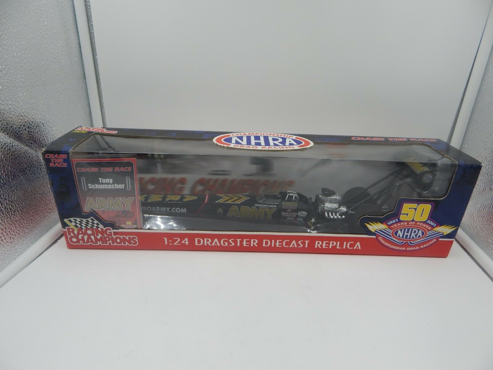 RACING CHAMPIONS  Chase la course  TOP FUEL DRAGSTER TONY SCHUMACHER 1 24