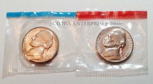 1968 D /& S JEFFERSON NICKEL SET 2 COINS *MINT CELLO*  **FREE SHIPPING**