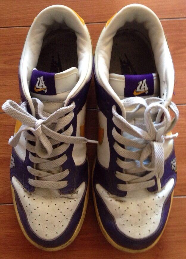Nike Dunk Low Pro LA Lakers Color way Purple & Gold Mens Size : 9.5 US Rare !