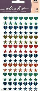 EK SUCCESS STICKO STICKERS COLORFUL HEART REPEATS COLOURFUL HEARTS