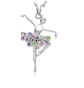 Ballerina-Ballet-Dancer-Dancing-Girl-Colorful-Tutu-Pendant-Necklace-Jewelry