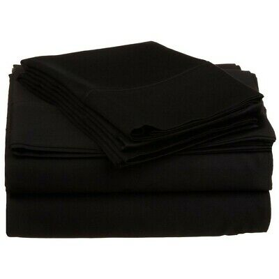 Schneidig Luxor Eindrücke 100% Ägyptische Baumwolle Blatt-satz 800 Tc ~schwarz~ King Neu Bettwaren, -wäsche & Matratzen