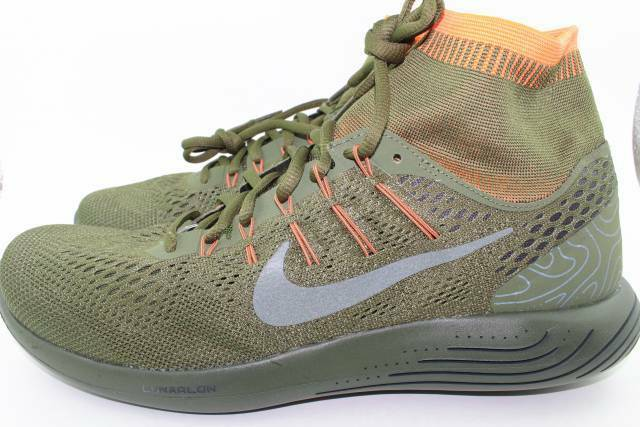 NIKE LUNARGLIDE 8 DBSIDE MEN SIZE 11.5 LEGION GREEN NEW COMFORTABLE LIGHT WEIGHT