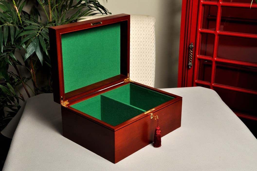 Large Mahogany Premium Chess Box - Without Logo