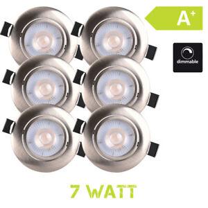 LED-Luce-Faretto-ad-Incasso-7W-Dimmerabile-6er-Set