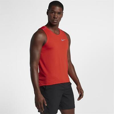 NWT Nike Running BREATHE RISE 365 TANK DriFit FUEL ORANGE AQ9917-882 $40  Mens M