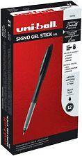 69054 Uni Ball Signo Gel Stick Gel Pen Black Ink Medium Tip 07mm Box Of 12