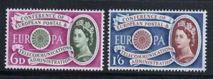Grossbritannien-1960-Mi-341-342-Postfrisch-100-Europa-CEPT-Koenigin