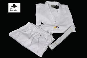 Pine Tree Taekwondo Anzug Dobok WTF TKD V-Neck, Trousers & Belt / NEU All Sizes