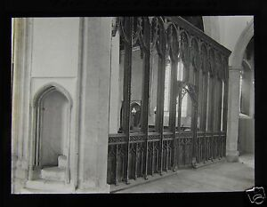 Glass-Magic-Lantern-Slide-CAWSTON-CHURCH-NORFOLK-ROOD-SCREEN-C1900-ENGLAND