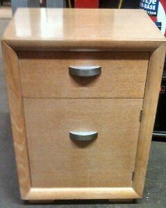 Antiques Vintage Blonde Oak Deco Nightstand 1 Drawer 1 Door