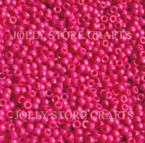 Dark Pink 7mm mini Pony Beads 1000pc made in USA for crafts school kids jewelry