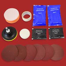 Scheinwerfer Restauration Satz für 2 Frontscheinwerfer Reparatur Kit Politur Set