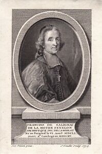Portrait-XVIIIe-Fenelon-Francois-de-Salignac-de-La-Mothe-Eveque-Theologien