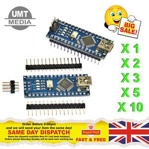 Mini USB Arduino Nano V3.0 ATmega328P CH340 5V 16MHz SOLDERED OR UNSOLDERED PINS