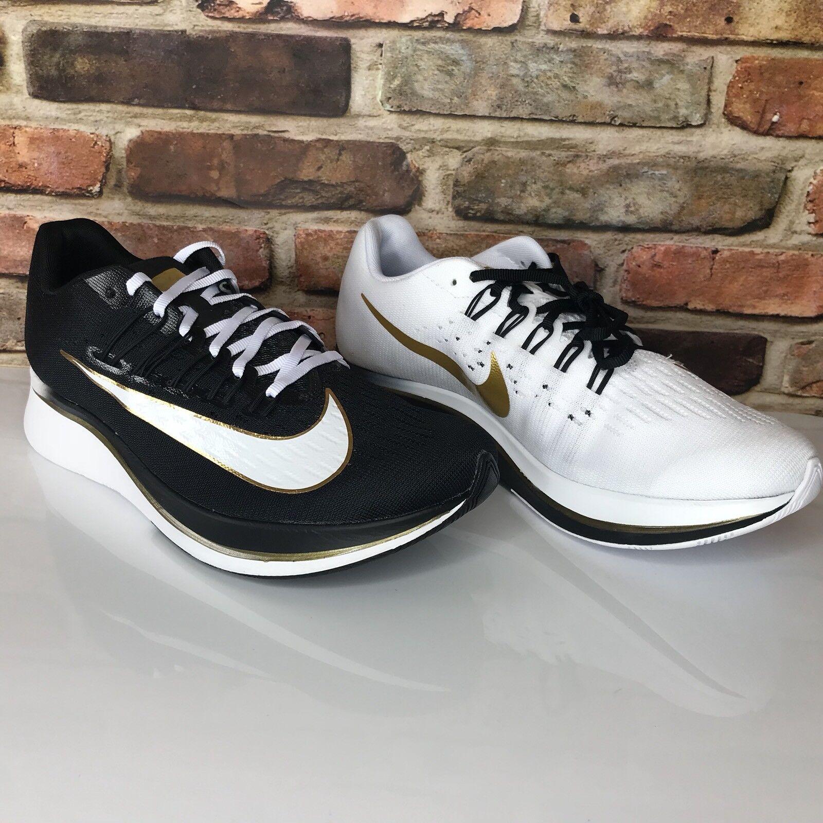 Nike Zoom Fly MISMATCH Mens Size 7.5 Black White Metallic gold 880848-006