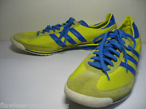 size 40 35eb8 d5906 Image is loading ADIDAS-ORIGINALS-SL-72-Retro-Yellow-Blue-Training-