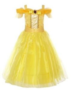 Kids Girls Costume  Princess Belle Beauty and the Beast Inspired Dress Size 5/6