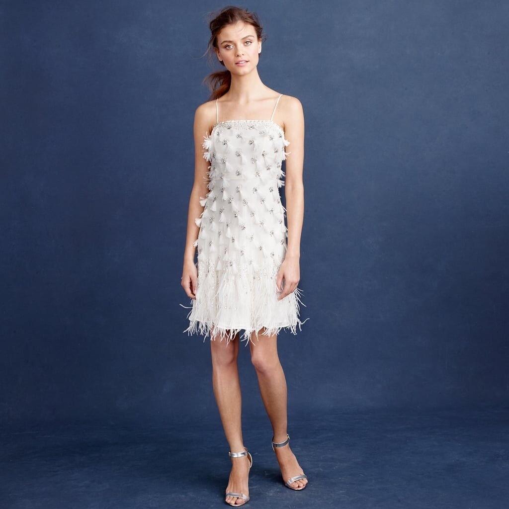 J Crew Feather Flapper Dress Wedding  Size 12