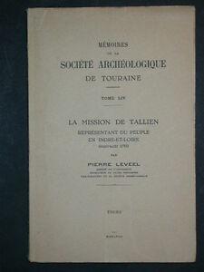 La-mission-de-Tallien-P-Leveel-1958-Memoires-Touraine-Histoire