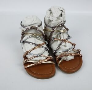 b6ffb5a7a69 Details about Madden Girl by Steve Madden toddler Mistic Caged Gladiator  Sandals Flats sz 5
