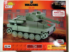 COBI 3021 Nano Tanks Russischer T34 WoT Bonus Code Mini-Bausatz 62 Bausteine !!