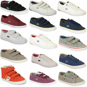 Boys Girls LACOSTE Trainers Kids Chunky Pumps Casual Shoes Lace Up ... 68fc4fcfba8