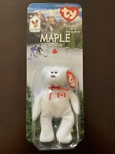 51a78497c83 Maple The Bear-1996 McDonalds Ty Beanie Baby with rare errors 1993 ...