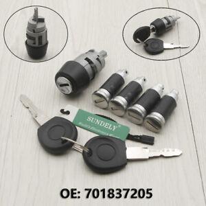 Ignition Switch /& Door Lock Barrel Set 2 Keys For VW T4 Caravelle 1990-2003