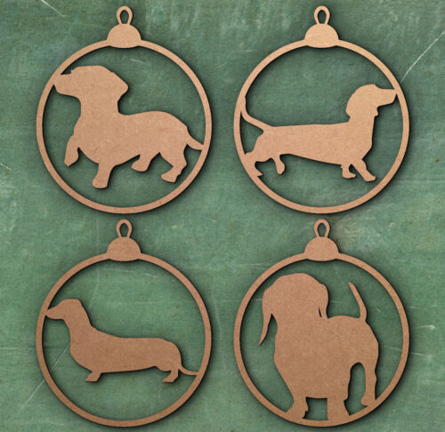 Sausage Christmas Tree Bauble, Gift Tag, Birthday Tag, Dog, Christmas Decoration