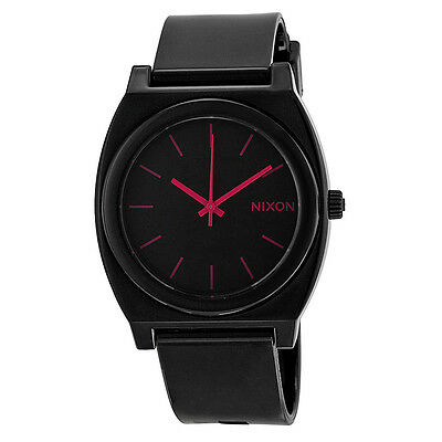Nixon Time Teller P Black Dial Bright Pink Markings Mens Watch A119480