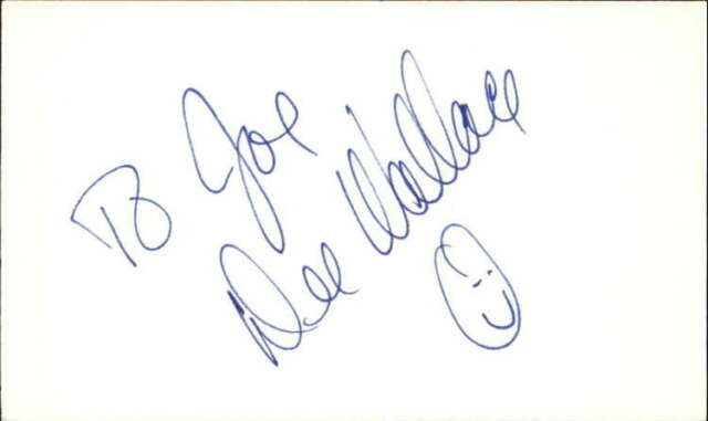 """DEE WALLACE STONE CUJO Signed 3""""x5"""" Index Card"""