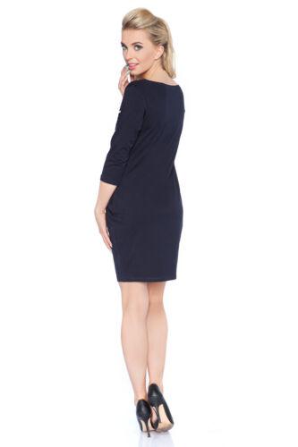 Womens UK Mini Tulip Dress Boat Neck 3//4 Sleeve Pockets Tunic Floral Print 6583