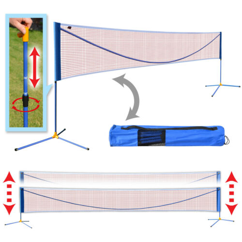16.7'&20' Long Badminton Net Volleyball Tennis portable Net w Stand Sport Family