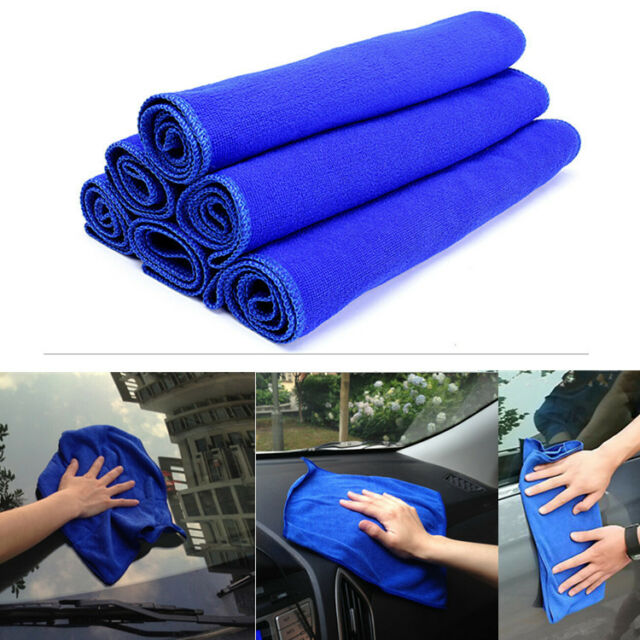 6pcs Set Soft Microfiber Absorbent Towel Car Cleaning Wash Cloth Multi-function