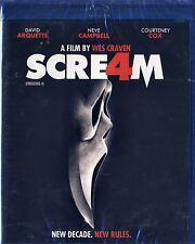 Scream 4 (BRAND NEW Blu-ray Disc)NEVE CAMPBELL,COURTENEY COX,DAVID ARQUETTE