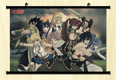Fairy Tail Natsu Dragnir Home Decor Anime Japanese Poster Wall Scroll 17
