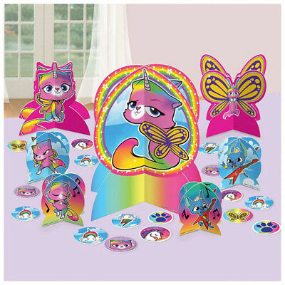 Mayflower Products Rainbow Butterfly Unicorn Kitty 8th Birthday Party Supplies Balloon Bouquet Decorations
