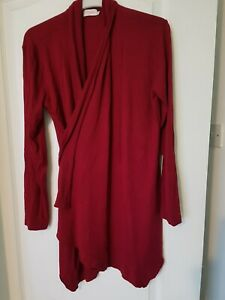 Waterfall Cardigan - Red . Size Large Clear-Cut Texture