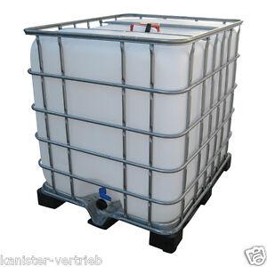 ibc 1000 l gebrauchter container wassertank regenwassertank inkl plastikpalette ebay. Black Bedroom Furniture Sets. Home Design Ideas