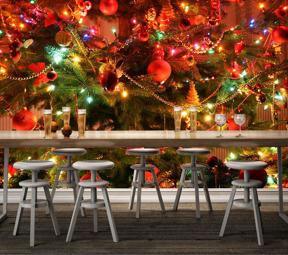 3D Christmas Tree Decoration 2 Wall Paper Wall Print Decal Wall Deco Indoor Wall