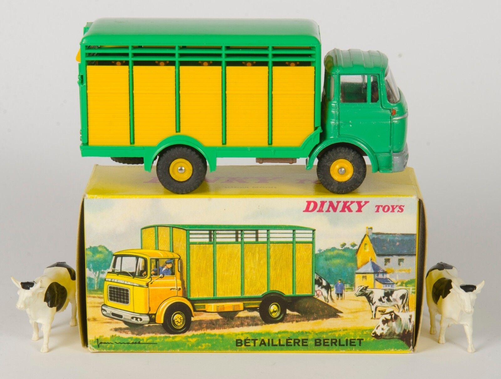 Ven a elegir tu propio estilo deportivo. Francés Dinky 577 Berliet Berliet Berliet ganado camión y 2 vacas. vnmint & boxed. 1965  punto de venta barato