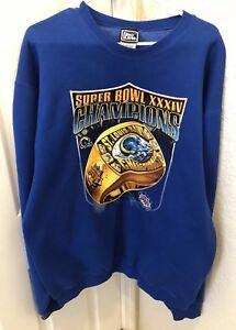 6d5f4422 Details about Mens St. Louis Rams Super Bowl XXXIV Champions Los Angeles  Sweatshirt Size XL