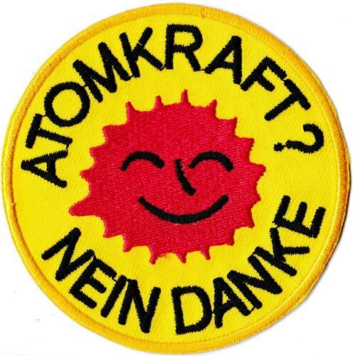 Aufnäher Ecolo Gepatcht Atomkraft Nein Danke Patch Abzeichen Wärmeklebend Hotfix