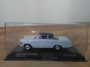 Preciosa-miniatura-Minichamps-1-43-Opel-Rekord-Coupe-de-1960-1962-1-de-2208