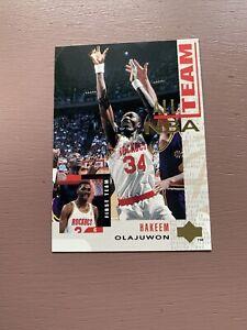 1994-95-Upper-Deck-Basketball-13-Hakeem-Olajuwon-All-NBA-Team