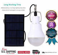 Led Lights Lamp Bulb Solar With Panel Portable Indoor And Outdoor Camping Lumen
