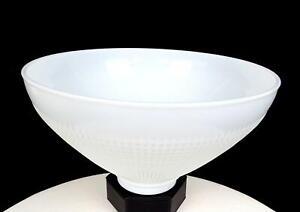 "CORNING WHITE MILK GLASS #824160 WAFFLE PRINT 10"" LAMP SHADE 2 3/4"" FITTER"